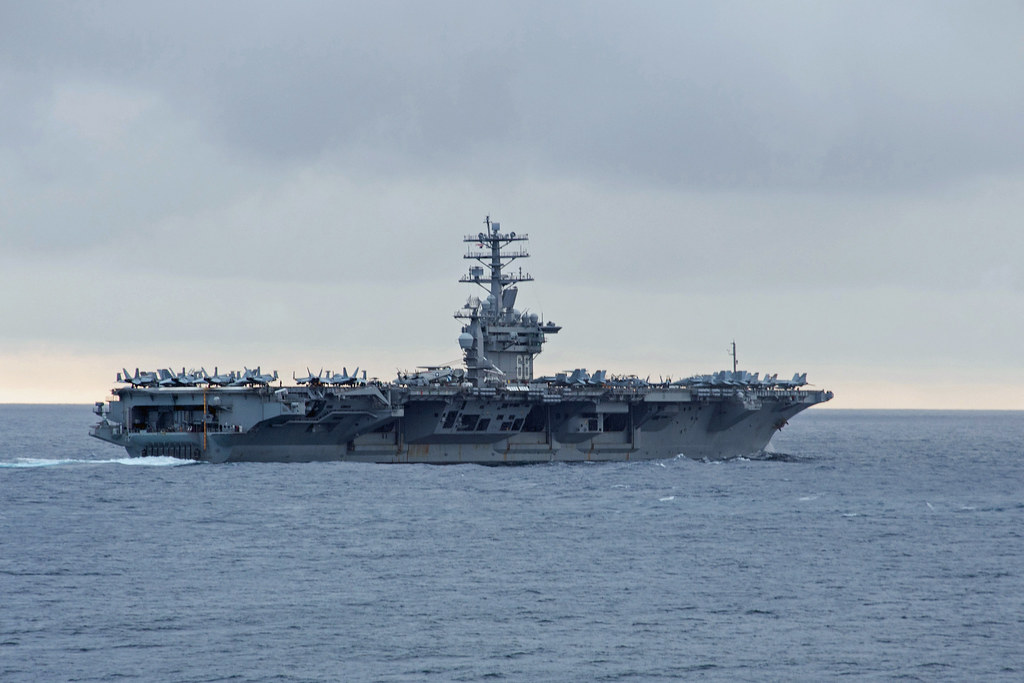 USS Nimitz departs Bremerton for training