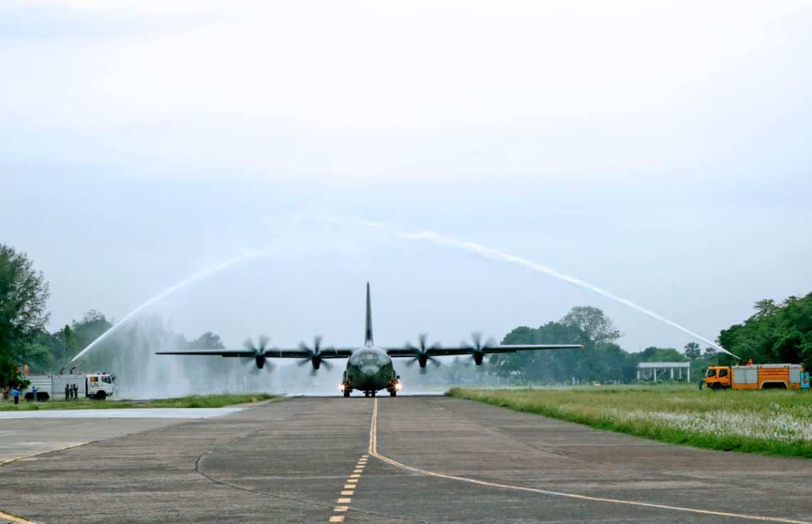 Bangladesh Air Force Receives 2nd C-130J Super Hercules Transport Aircraft