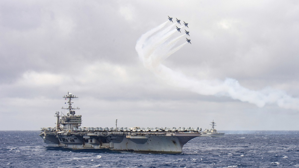 Blue Angels Perform for the Harry S. Truman Carrier Strike Group in the Atlantic Ocean
