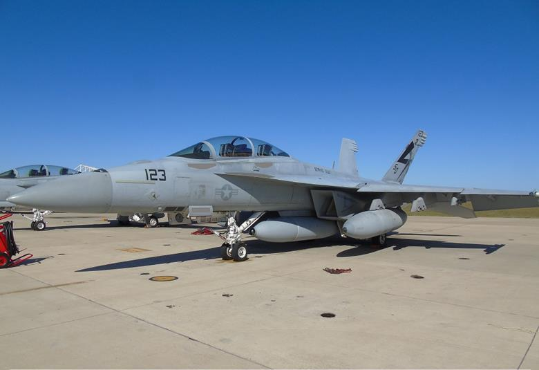 U.S. Navy Boeing FA-18F Super Hornet with Infrared Search & Track (IRST) Block II pod