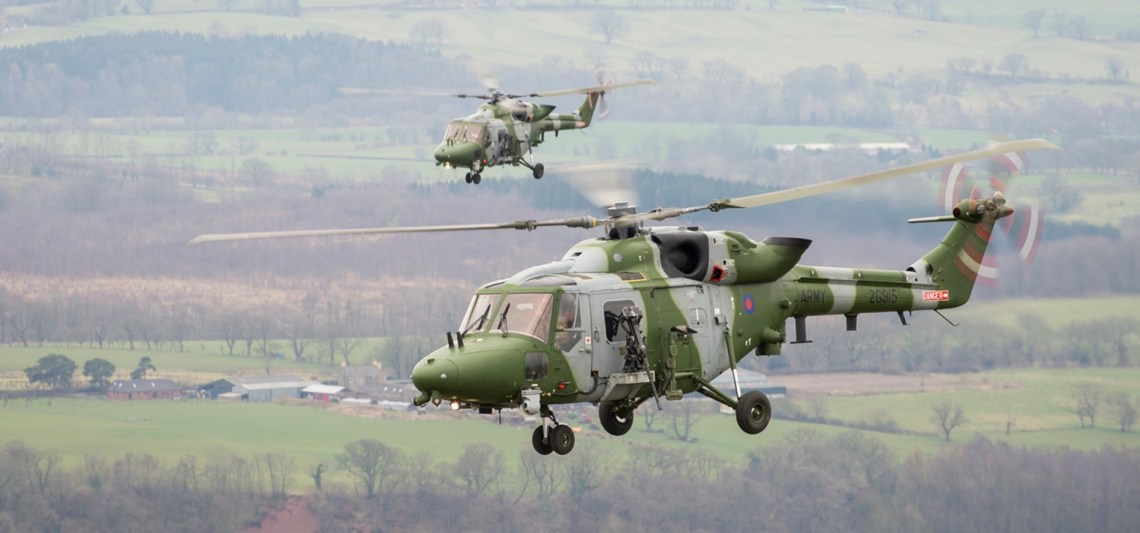 British Army  Wildcat Mk1 Helicopters