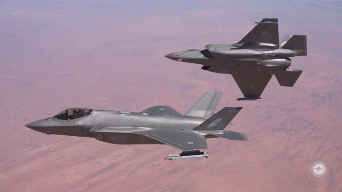 F-35A Air to Air Refuelling from No. 33 Squadron KC-30A Multi-Role Tanker Transport