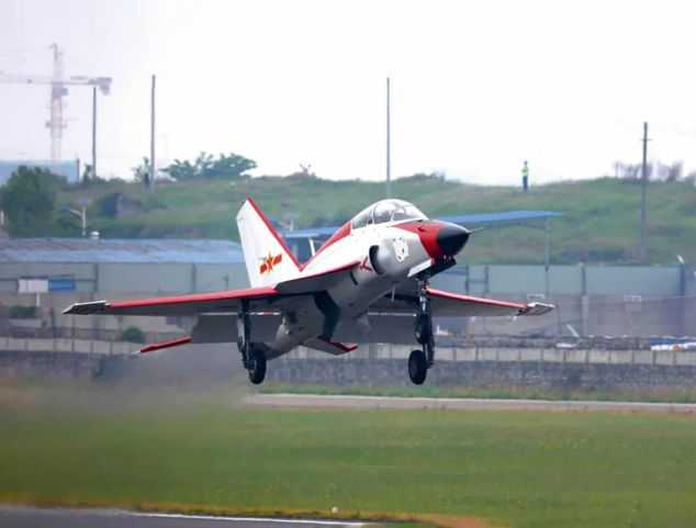 New Naval Variant of China's JL-9 Jet Trainer Conducts Maiden Flight