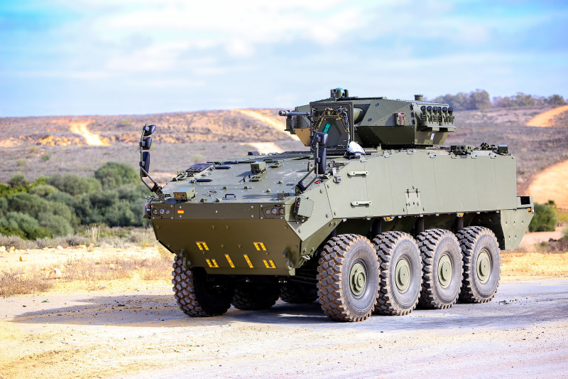The Spanish ministry of defense has approved the production of 348 VCR 8x8 wheeled armored vehicle program by a new joint venture company that will retain design authority in Spain and guarantee a local work-share of at least 70%.