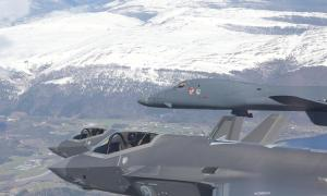 Norwegian F-35s in Joint Training with US Air Force B-1B Bombers