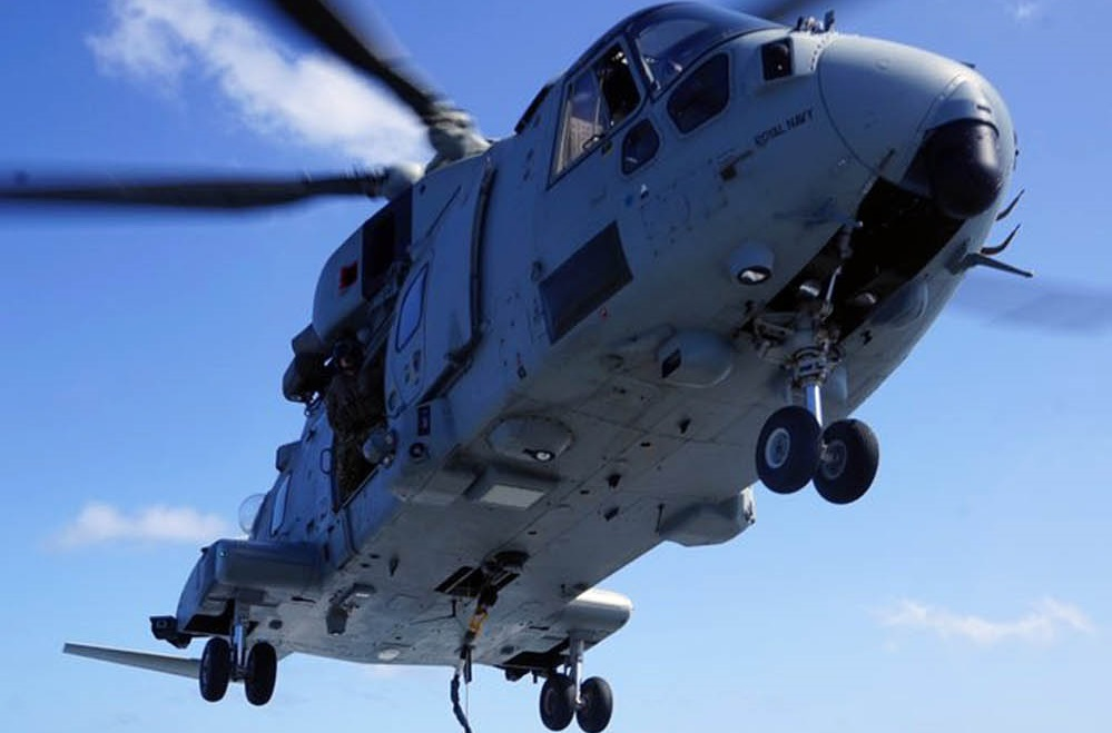 Royal Navy Merlin Helicopter Makes Debut on Medway