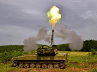 Serbian Army Test-Fires Modernized Gvozdika Self-Propelled Howitzer