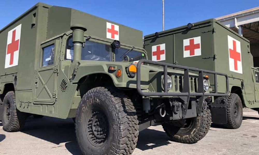 Slovenian Army Received Humvee M997A3 Field Ambulances