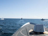 Standing NATO Maritime Group One Ships Exercise with Swedish Navy