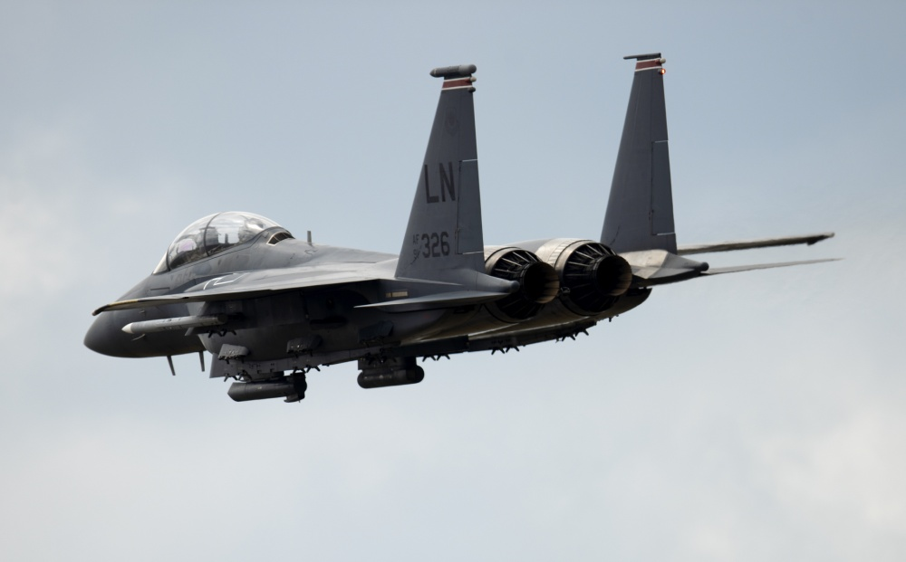 U.S. Air Force F-15s, F-16s and KC-135s Participate in Large Force Exercise
