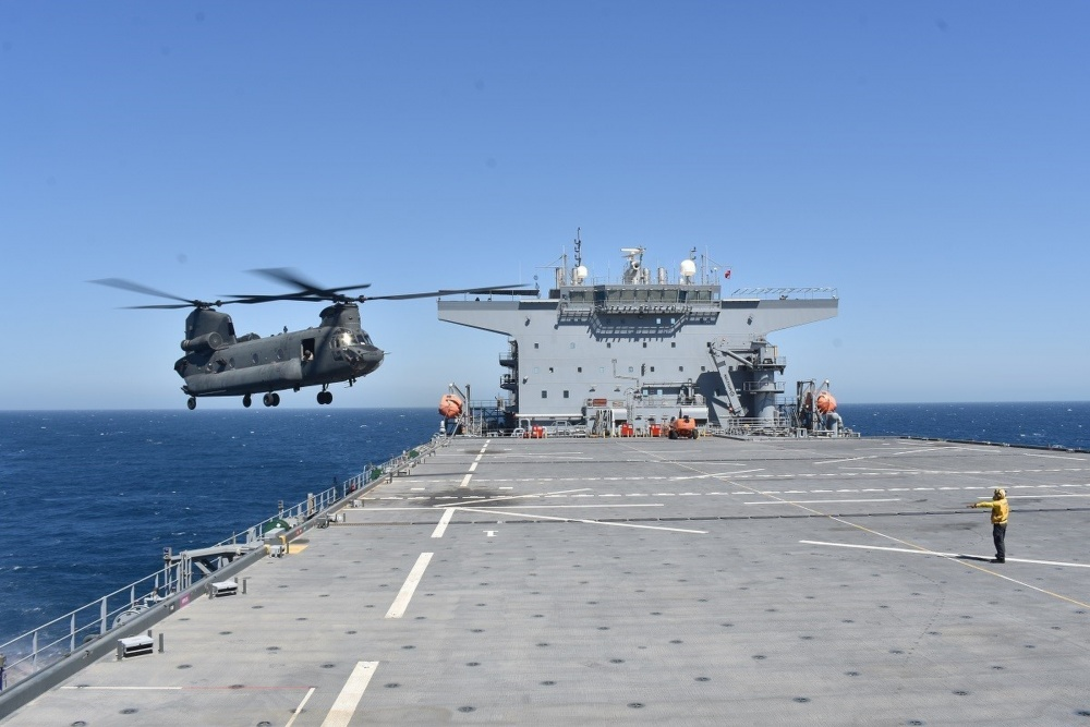 UAE Military Pilots Conduct Landing Qualifications Aboard USS Lewis B. Puller