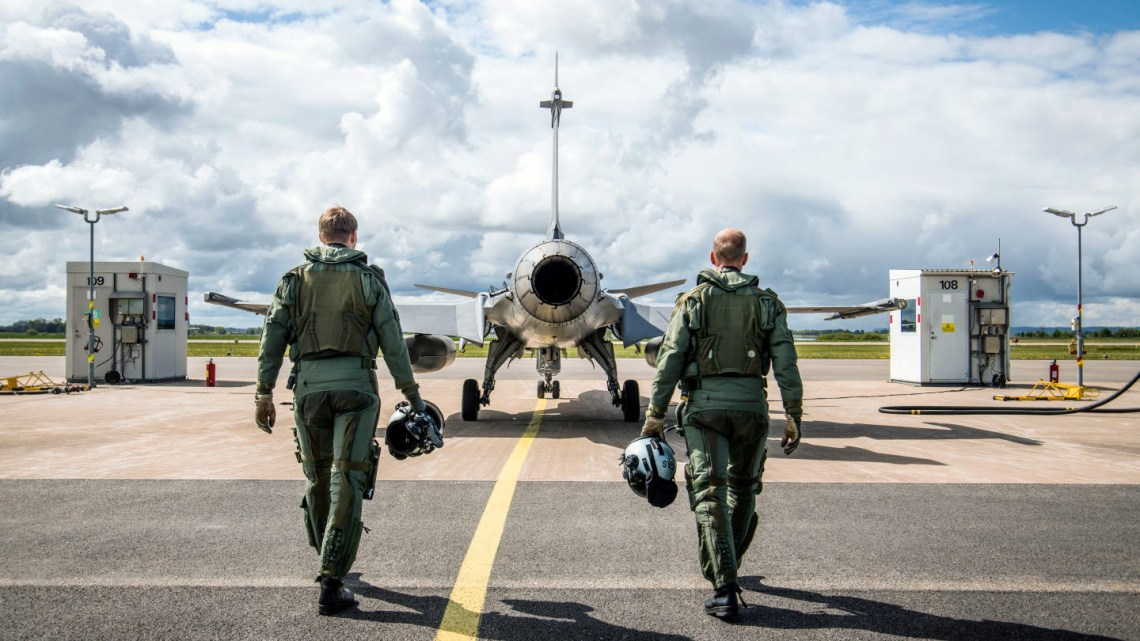 Swedish Air Force Jas 39 Gripen fighter aircraft
