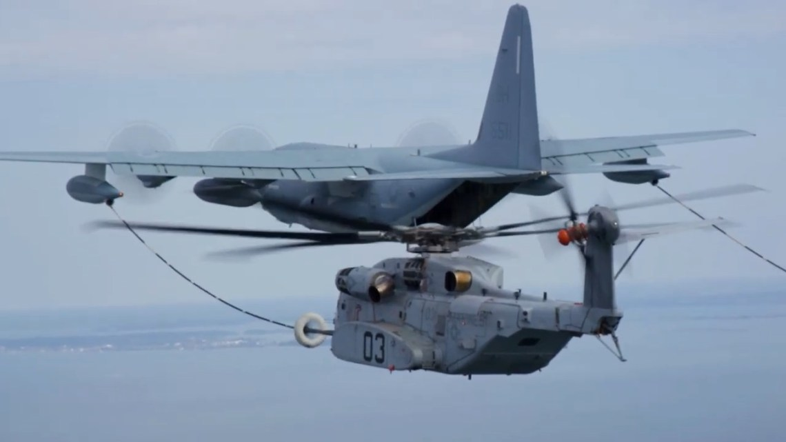 US Air Force KC-130J Helps Fuel Another CH-53K Milestone