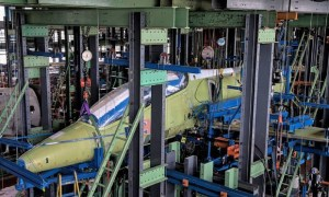 Fatigue testing of the Aero L-39NG began on May 25 at the Czech Aerospace Research Center and will take almost two years. Aero Vodochody has committed to test the first two service lives, but anticipates a triple lifespan. (Photo VZLU)
