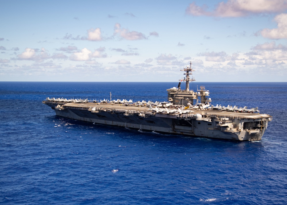 The aircraft carrier USS Theodore Roosevelt (CVN 71) transits the Philippine Sea June 11, 2020. The Theodore Roosevelt Carrier Strike Group is on a scheduled deployment to the Indo-Pacific. (U.S. Navy photo by Mass Communication Specialist 2nd Class Robyn B. Melvin)