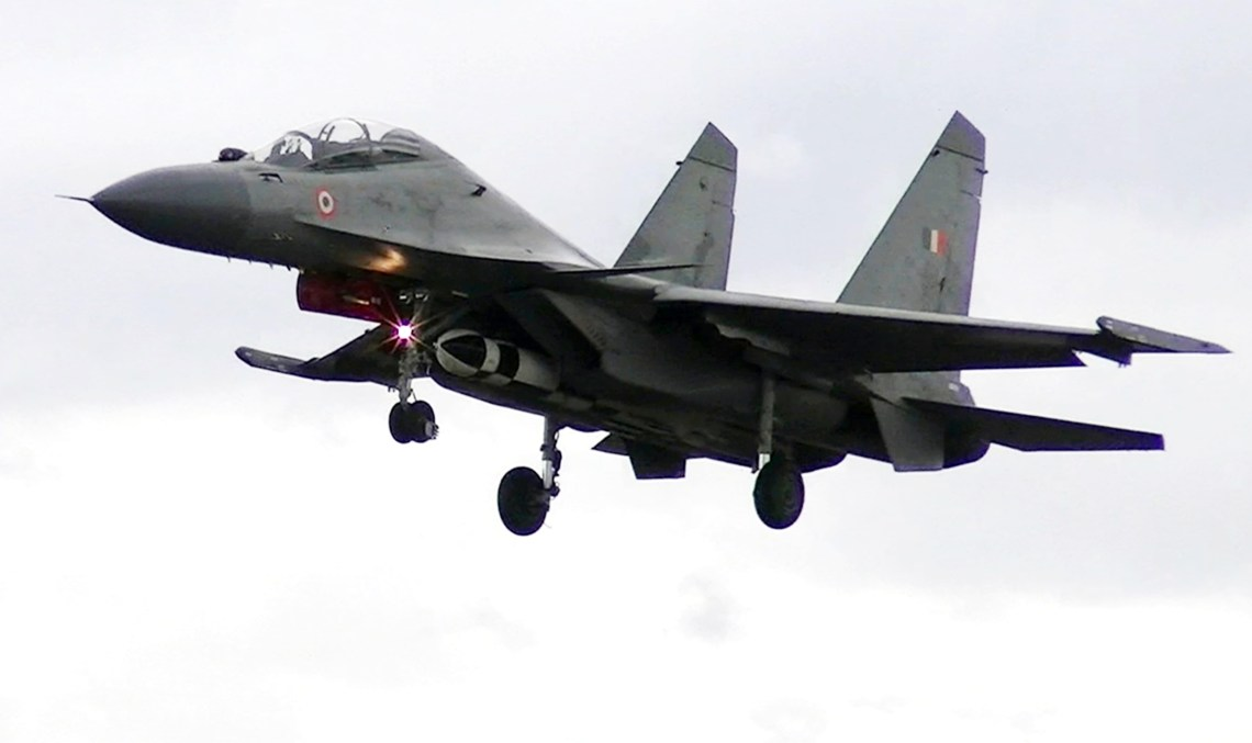 A Su-30MKI fighter armed with BrahMos