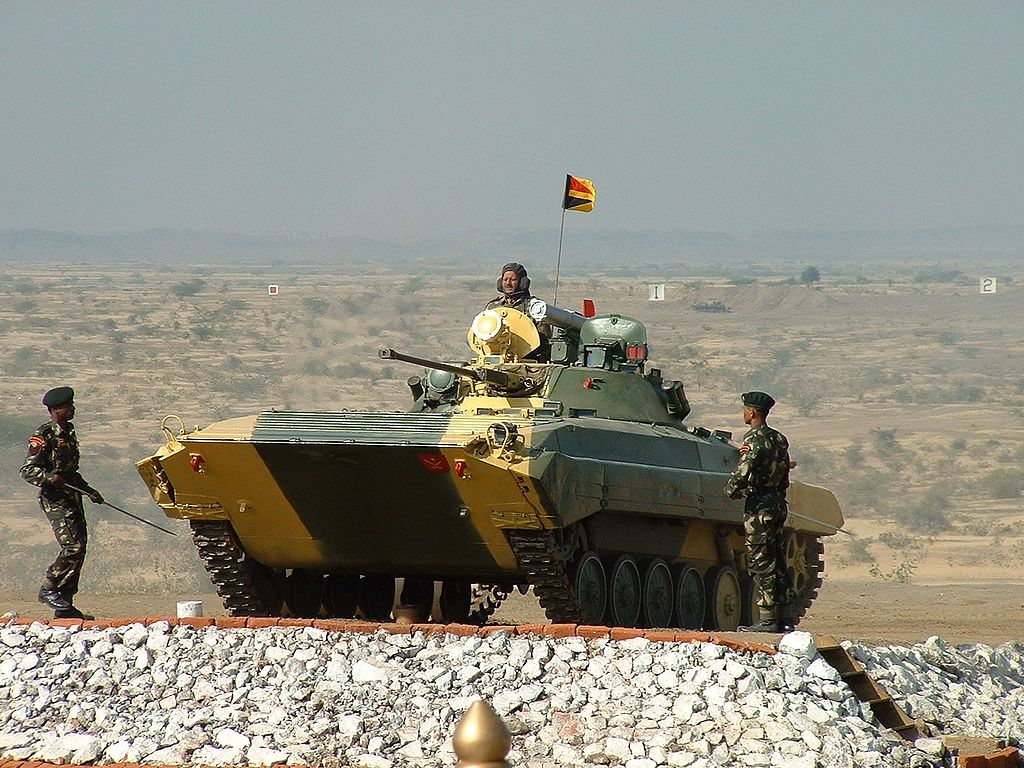 Indian Army BMP-2 Sarath Infantry Combat Vehicles