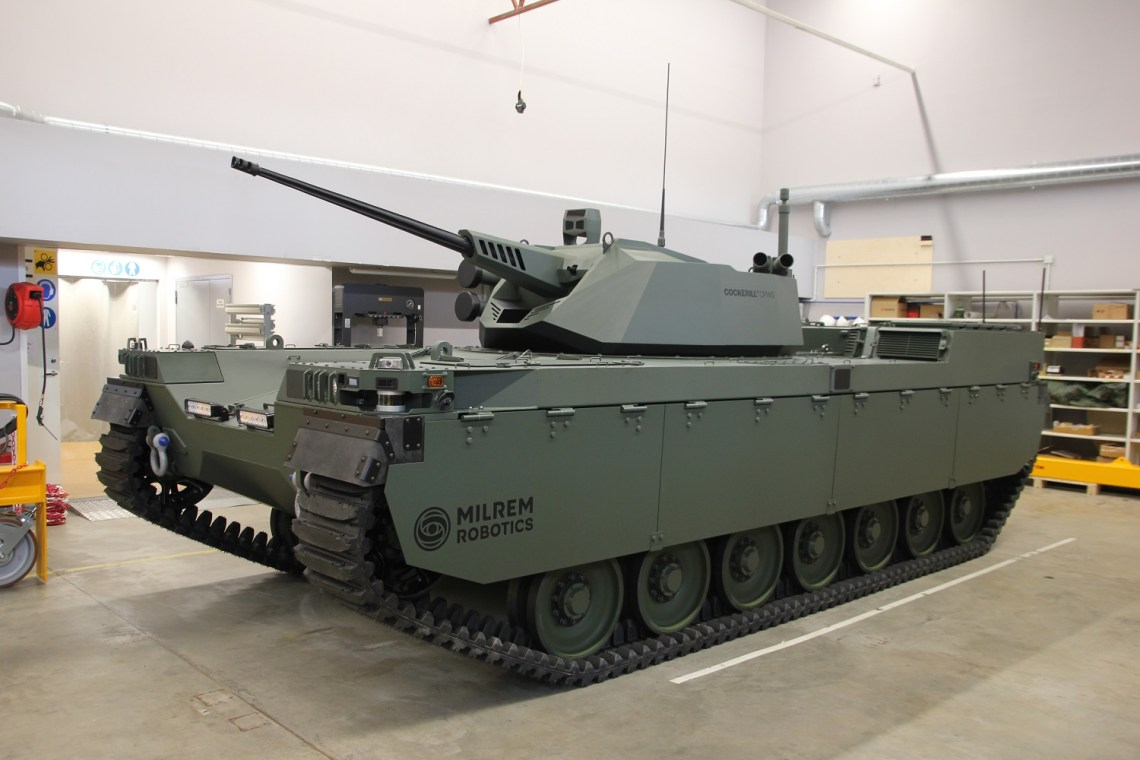 Milrem Robotics Revealed Type-X Robotic Combat Vehicle with John Cockerill CPWS II Turret