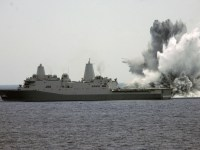 USS Mesa Verde Performs a Shock Test