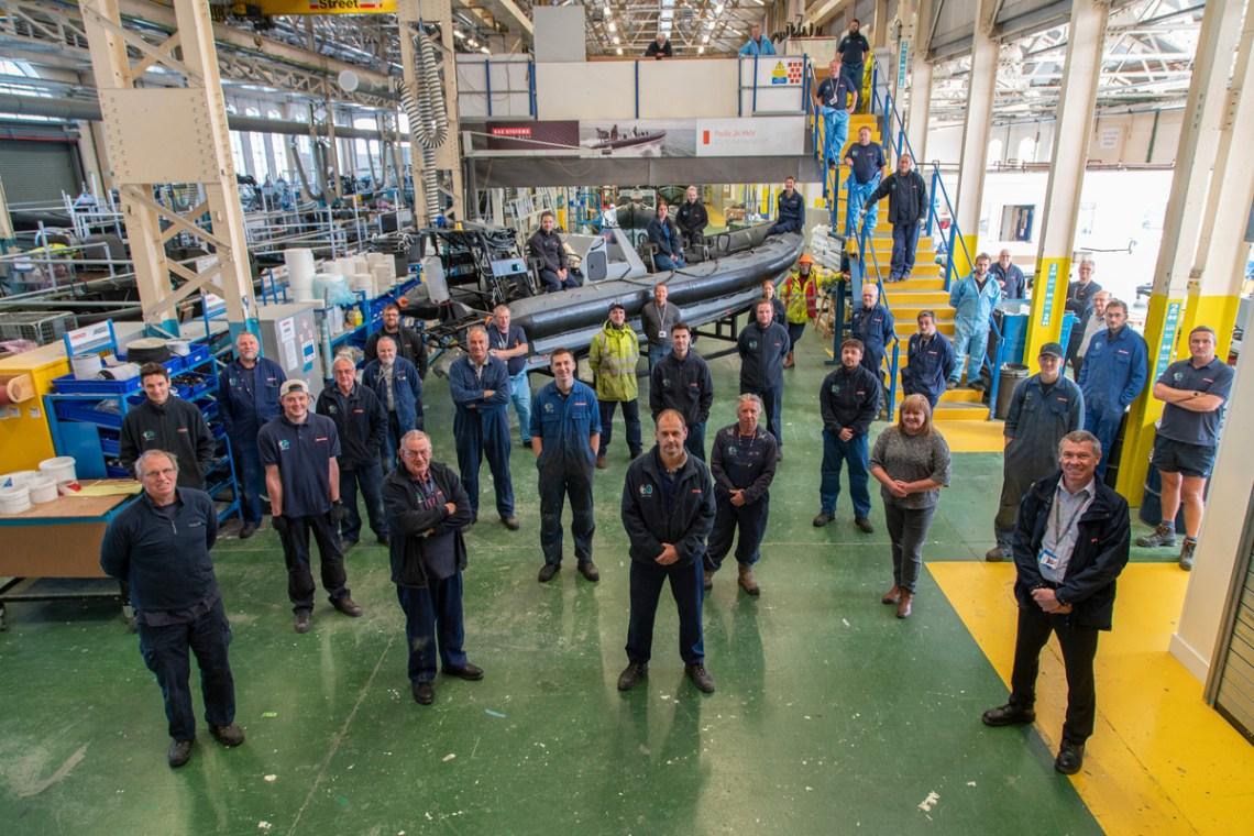 BAE Systems' Boats team in Portsmouth who madePacific 24 (P24).