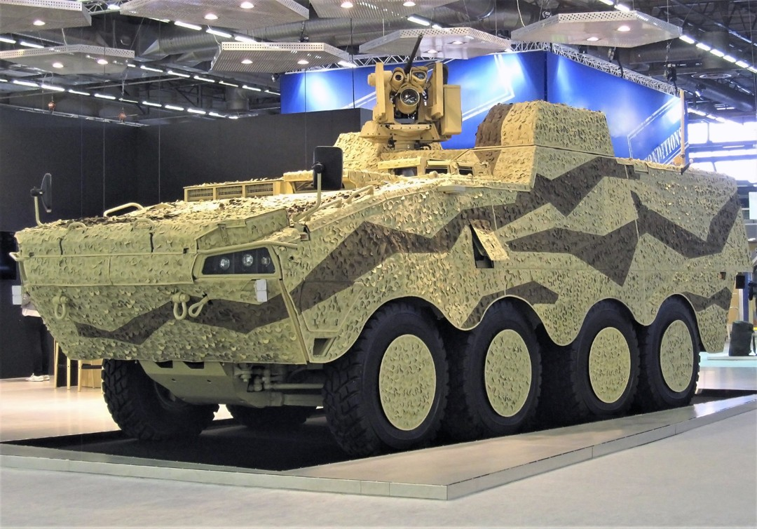 Patria Armored Modular Vehicle (AMV) 8x8 System Platform Vehicle