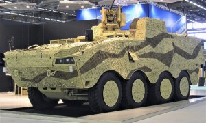 Patria Armored Modular Vehicle (AMV) 8x8 System Platform Vehicle