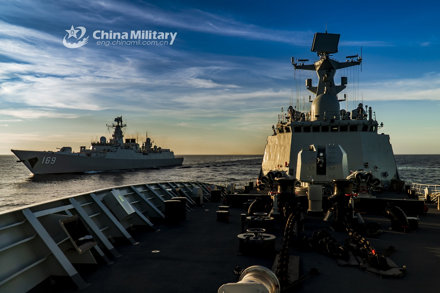 People's Liberation Army Navy Destroyer Flotilla Execute Maritime Operation in South China Sea