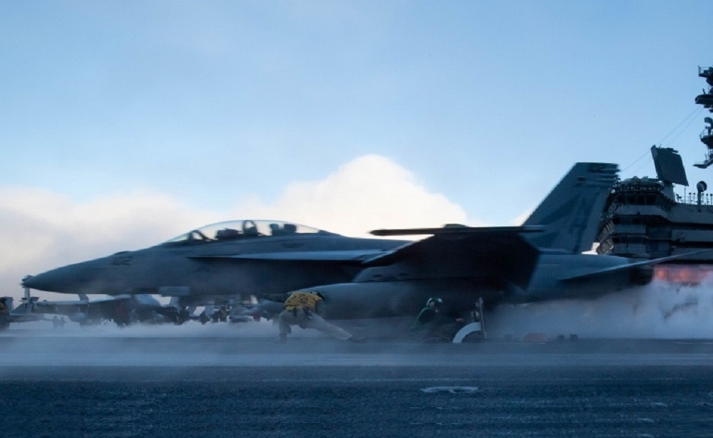 US Navy F/A-18F Super Hornet Crashes in Philippine Sea