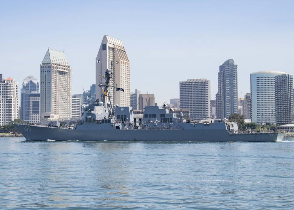 US Navy Guided-Missile Destroyer USS Kidd Departs on Deployment