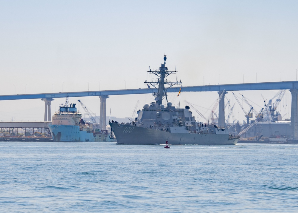 US Navy Guided-Missile Destroyer USS Kidd Departs on Deployment