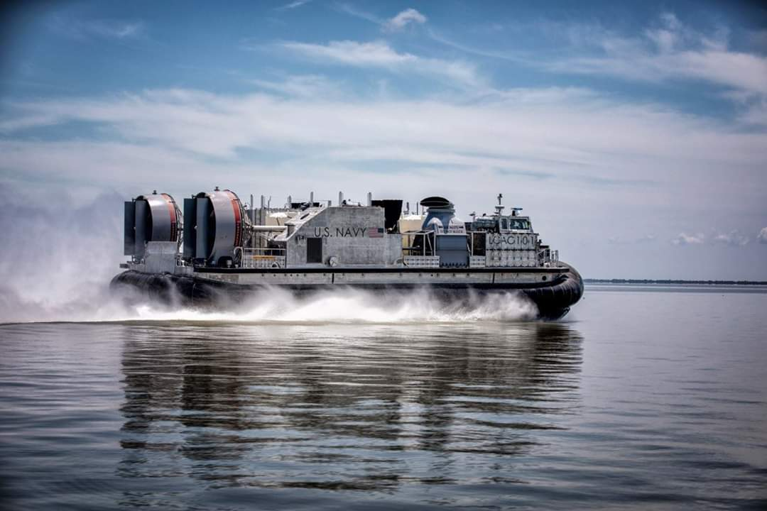 The U.S. Navy's next generation landing craft, Ship to Shore Connector (SSC), Land Craft, Air Cushion (LCAC) 101, concluded acceptance trials the week of June 8 after successfully completing a series of graded in-port and underway demonstrations for the Navy's Board of Inspection and Survey (INSURV). (Photo by Textron/RELEASED)