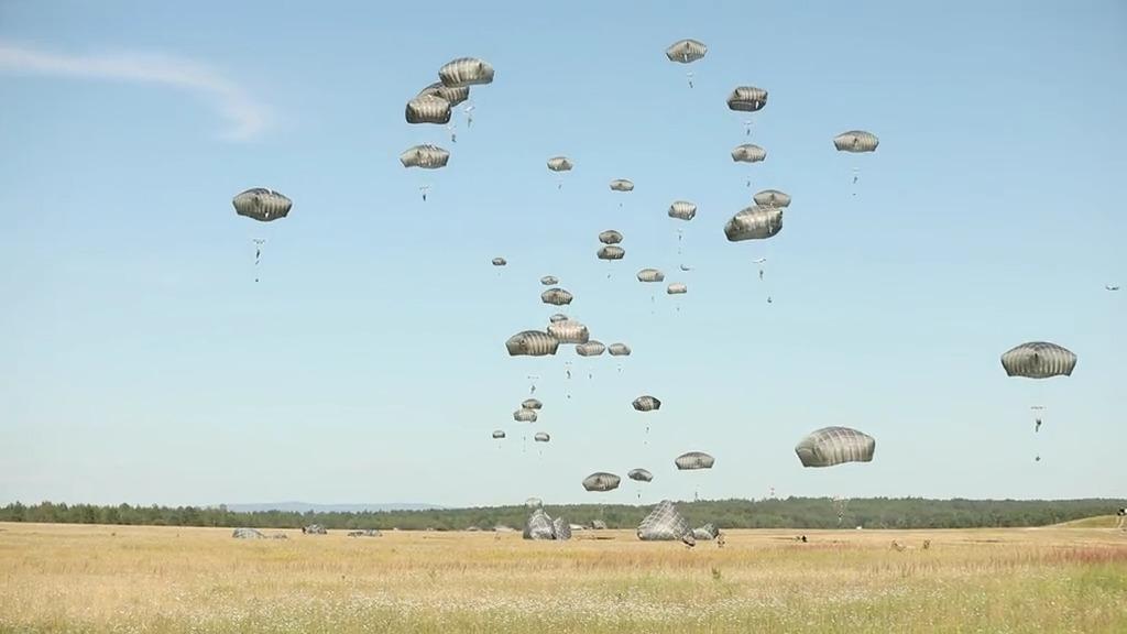 US Army 173rd Airborne Brigade Training B-Roll