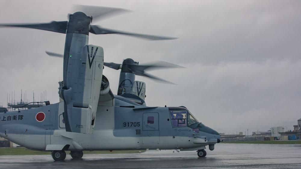 First Bell Boeing V-22 Osprey Delivered to Japan Ground Self Defense Force