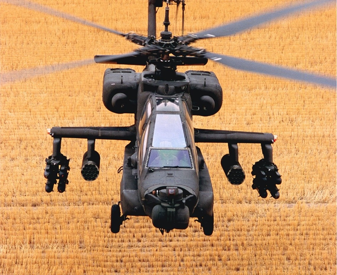 The AH-64A Apache was first delivered to the U.S. Army in 1984 and the helicopter fired the first shots of Operation Desert Storm in 1991, was called into service for Homeland Defense following the September 11, 2001 tragedies, and later deployed to Afghanistan in support of Operation Enduring Freedom. (Boeing photo)
