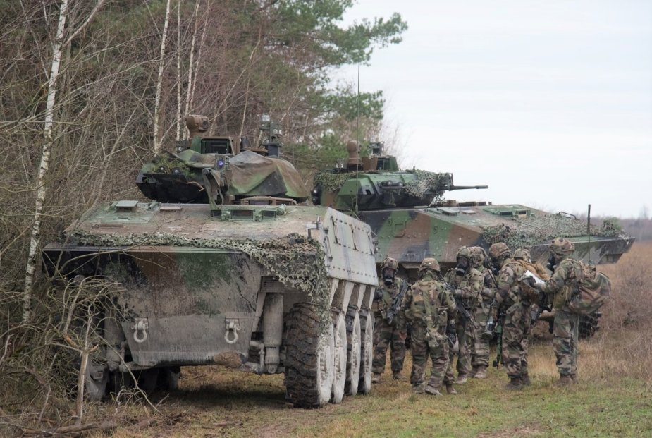 French Army Leclerc VBCIs Armored Infantry Fighting Vehicles