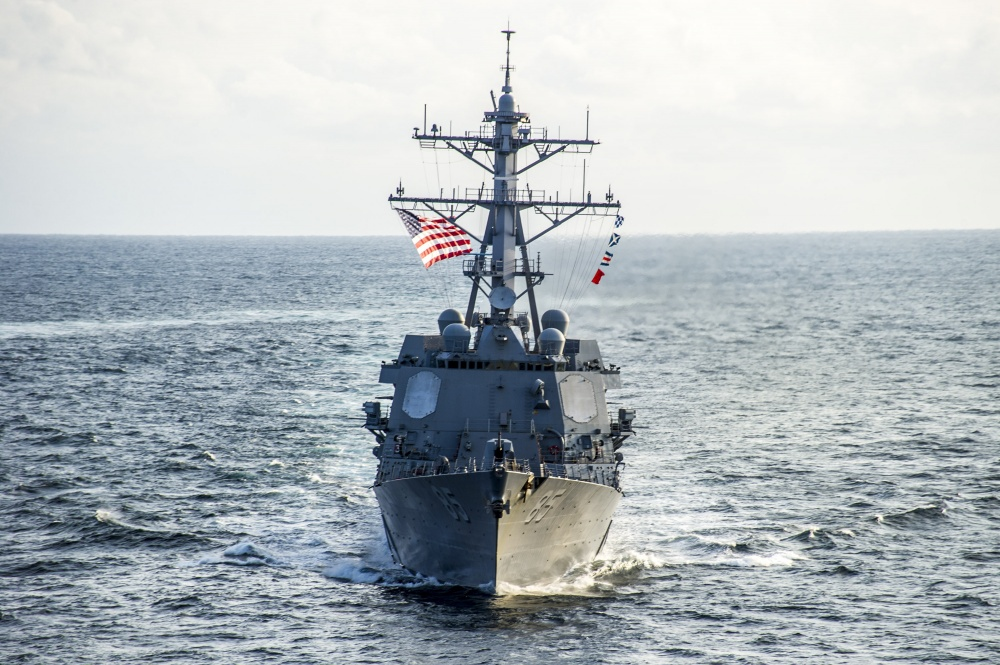 The guided missile destroyer USS McCampbell (DDG 85)