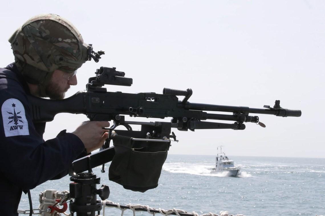 SWORMEX/Quyickdraw on board Royal Navy HMS Lancaster