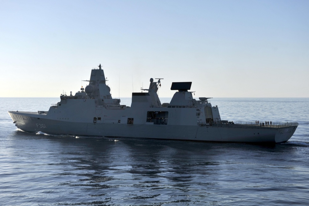 Royal Danish Navy frigate HDMS Iver Huitfeldt (F361) transits in the Arabian Sea. (U.S. Navy photo by Mass Communication Specialist 2nd Class Deven B. King/Released)