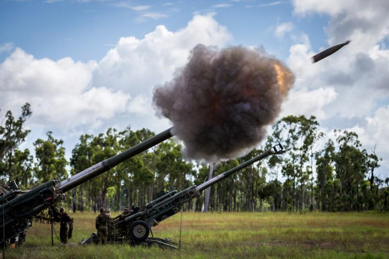 Australian Army's Royal Regiment of Australian Artillery (RAA) M777 Lightweight Towed Howitzer