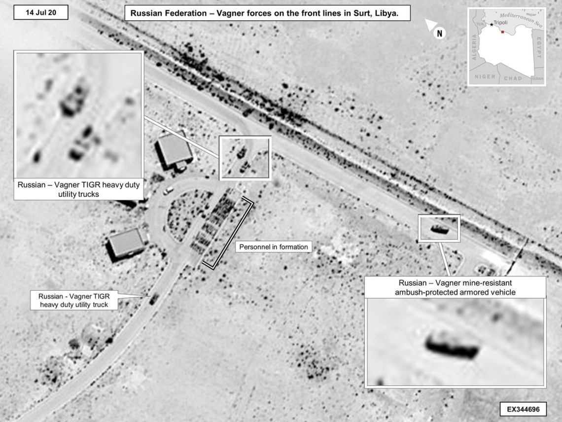 Pentagon Imagery Shows Russia, Wagner Group Continue Military in Libya