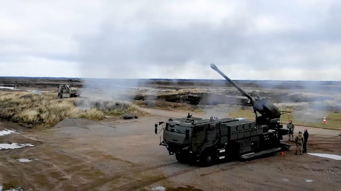 Royal Danish Army CAESAR 8x8 Self-Propelled Howitzer (SPH)