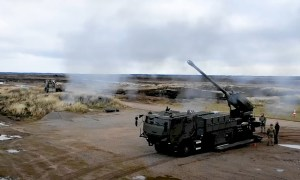 Royal Danish Army CAESAR 8x8 Self-Propelled Howitzer (SPH)