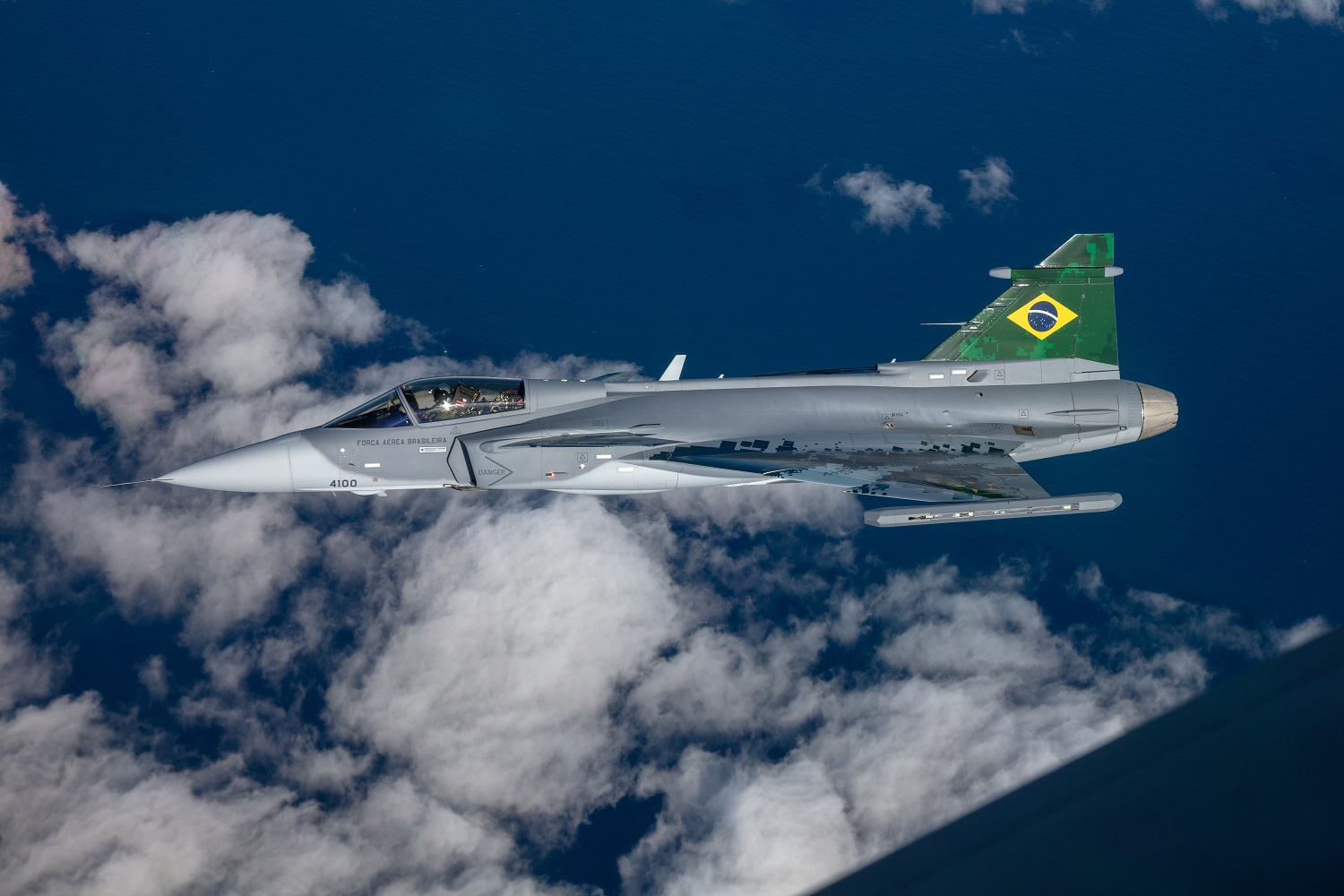 Flight test with the first Brazilian Gripen E fighter aircraft