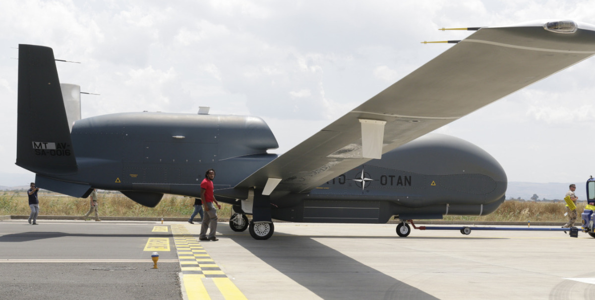 Third NATO RQ-4D Phoenix Drone Flies to Italian Home Base in Sicily