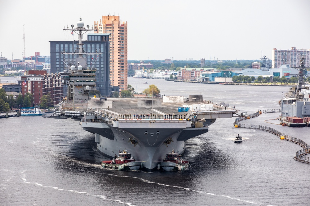 Two US Navy Carriers Now at Norfolk Naval Shipyard for Maintenance