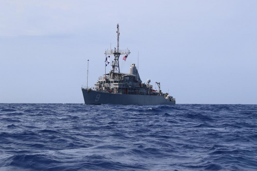 U.S. Navy Avenger-class mine countermeasure ship USS Pioneer (MCM 9)
