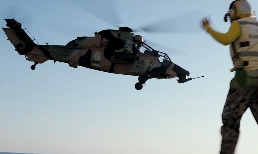 Australian Army 1st Aviation Regiment Eurocopter Tiger Attack Helicopter