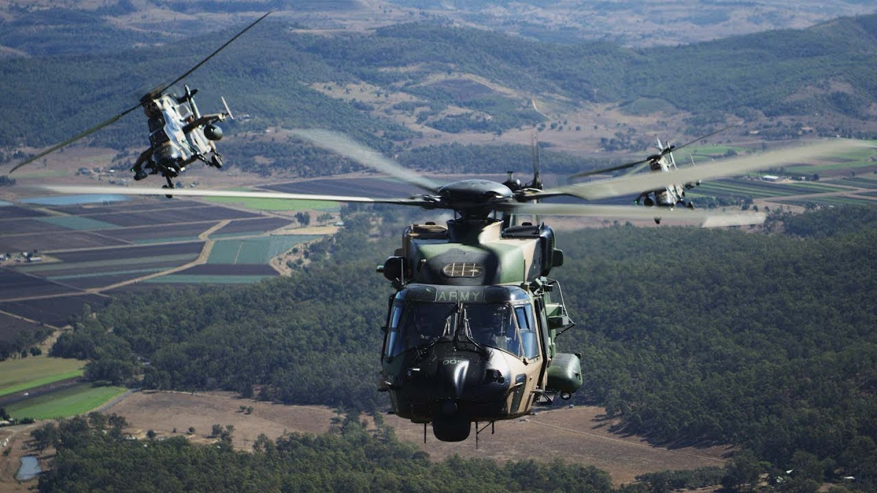 Australian Army ARH Tiger and MRH Taipan Helicopters