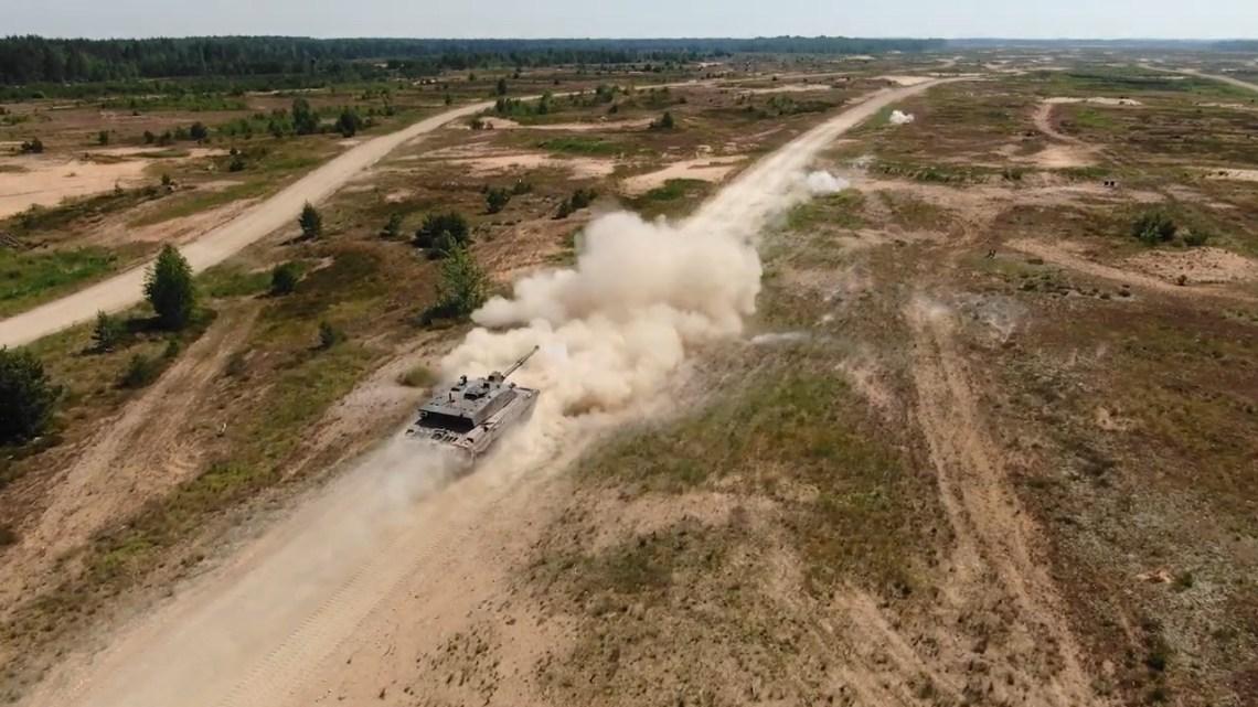 British Army from NATO eFP Battlegroup Estonia Train in Latvia
