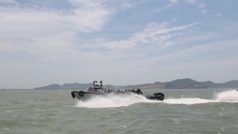 Chinese PLA 72nd Group Army Conduct Sea-Crossing Training in East China Sea